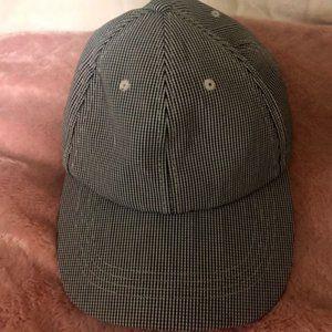 Checkered Black & White Baseball Hat